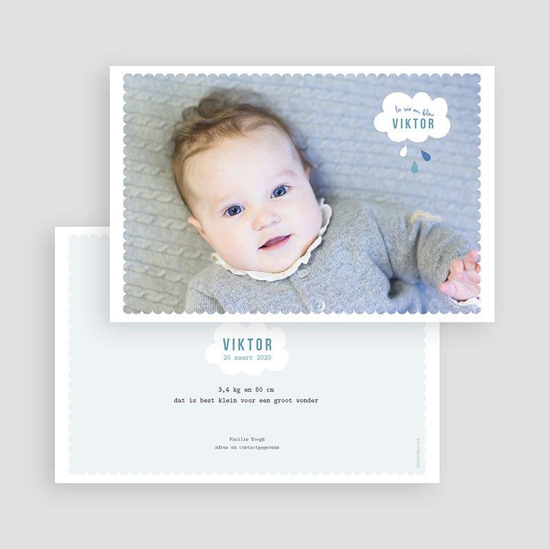 Geboortekaartje jongen - blauwe dromen 40807 thumb