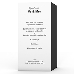 Personaliseerbare menukaarten huwelijk Ouderwets modern