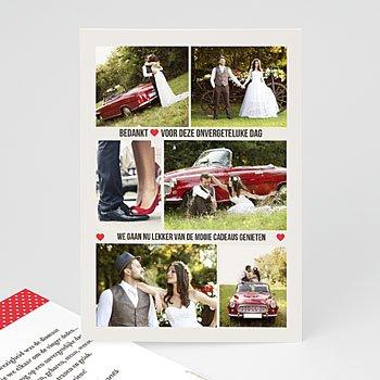 Bedankkaartjes huwelijk - Rouge Vintage - 0