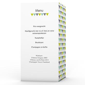 Personaliseerbare menukaarten huwelijk - Jolis triangles - 0