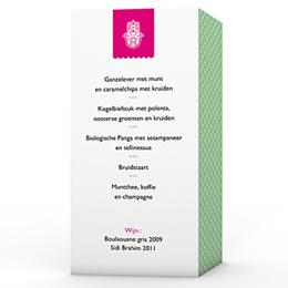 Personaliseerbare menukaarten huwelijk Trouwen met een smaakje