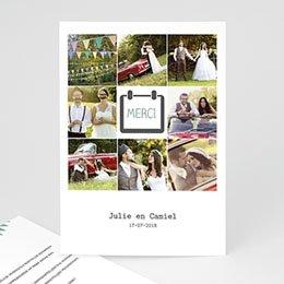 Bedankkaartjes huwelijk decoratief trouwkaartje