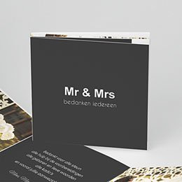 Bedankkaartjes huwelijk Ouderwets modern