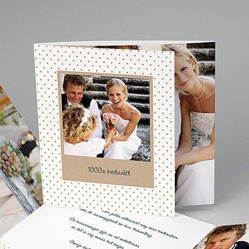 Bedankkaartjes huwelijk - familieboodschap - 0