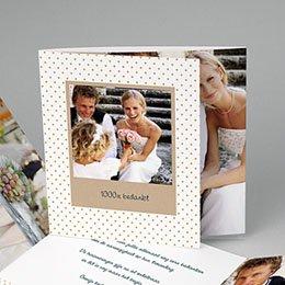 Bedankkaartjes Huwelijk familieboodschap