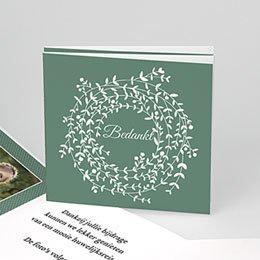 Bedankkaartjes Huwelijk krans met blaadjes