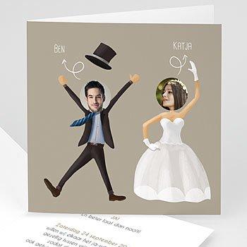 Humoristische trouwkaarten - Wij gaan t r o u w en - 0