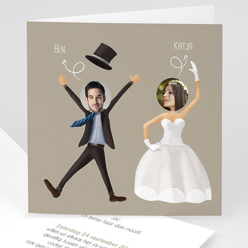 Humoristische trouwkaarten Wij gaan t r o u w en