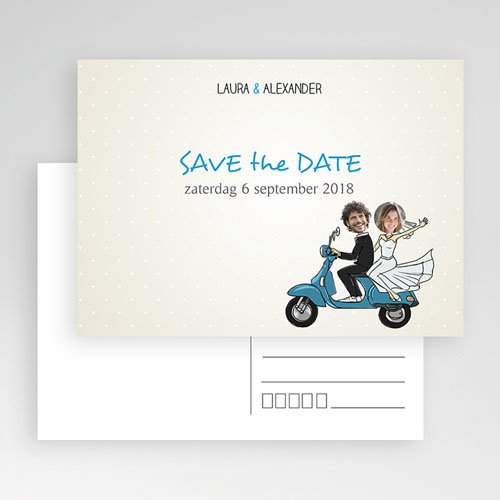 Save the date kaartjes - Vespa 41176 thumb