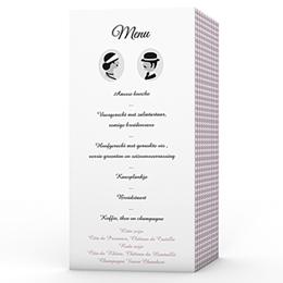 Personaliseerbare menukaarten huwelijk Lady and Gentleman