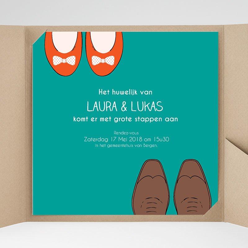 Vierkante Trouwkaarten Wedding Shoes
