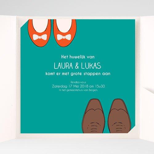 Vierkante Trouwkaarten Wedding Shoes pas cher