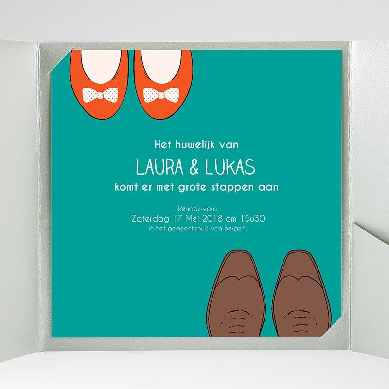 Vierkante Trouwkaarten Wedding Shoes gratuit