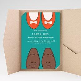 Rechthoekige trouwkaarten Wedding Shoes - 2