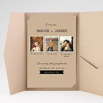Rechthoekige trouwkaarten - Notre histoire - 0