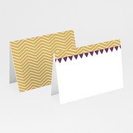 Personaliseerbare plaatskaartjes huwelijk Photo et confettis