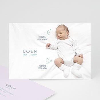 Geboortekaartje jongen - Gegevens foto - 0