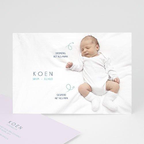 Geboortekaartje jongen - Gegevens foto 41654 thumb