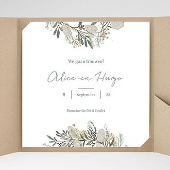 Vierkante Trouwkaarten - Laten we trouwen - 0