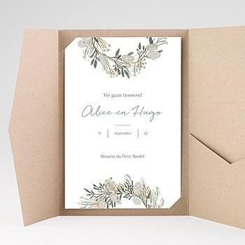 Rechthoekige trouwkaarten - Laten we trouwen - 0
