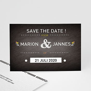 Save the date kaartjes - Laten we trouwen - 0
