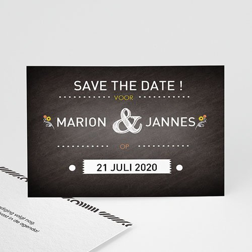 Save the date kaartjes - Laten we trouwen 41758 thumb