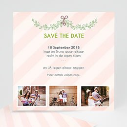 Save the date kaartjes klassiek getrouwd
