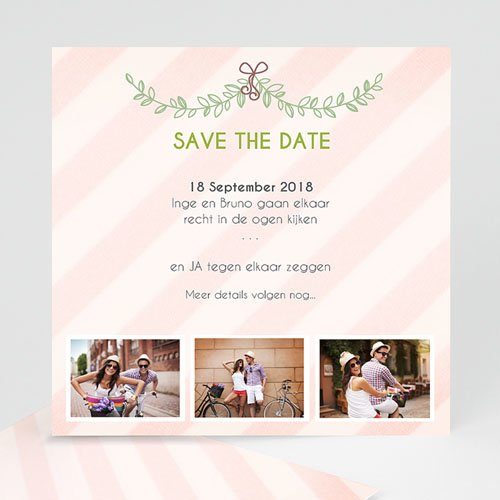 Save the date kaartjes - klassiek getrouwd 41778 thumb