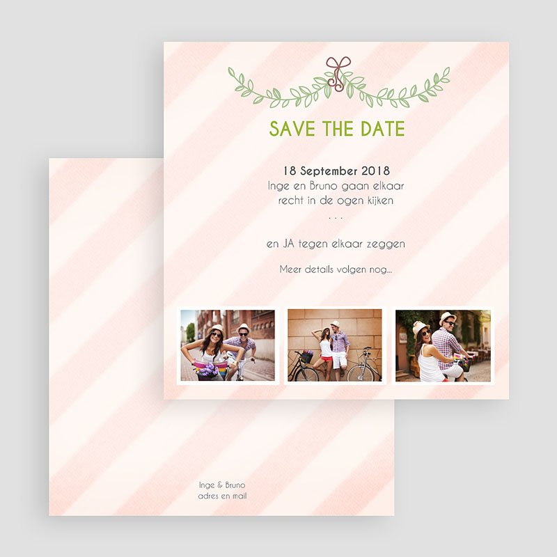 Save the date kaartjes - klassiek getrouwd 41780 thumb