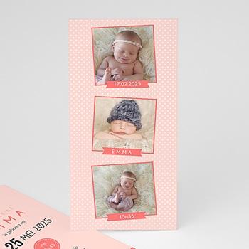 Geboortekaartje meisje - Fotoautomaat girl - 0