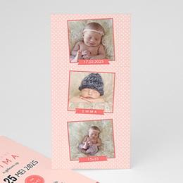Aankondiging Geboorte Fotoautomaat girl