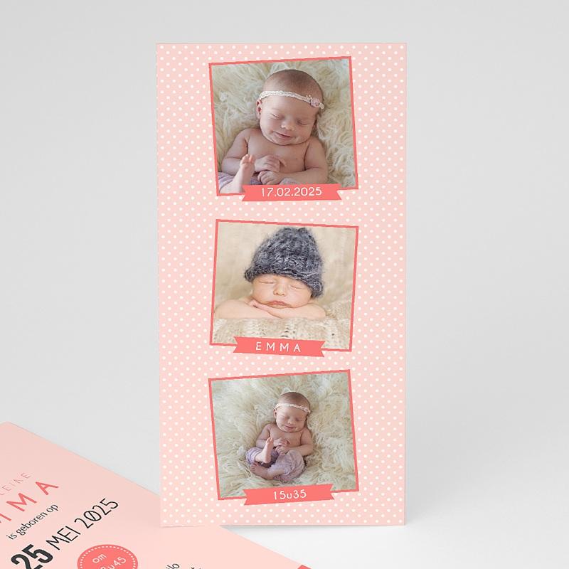 Geboortekaartje meisje - Fotoautomaat girl 41870 thumb