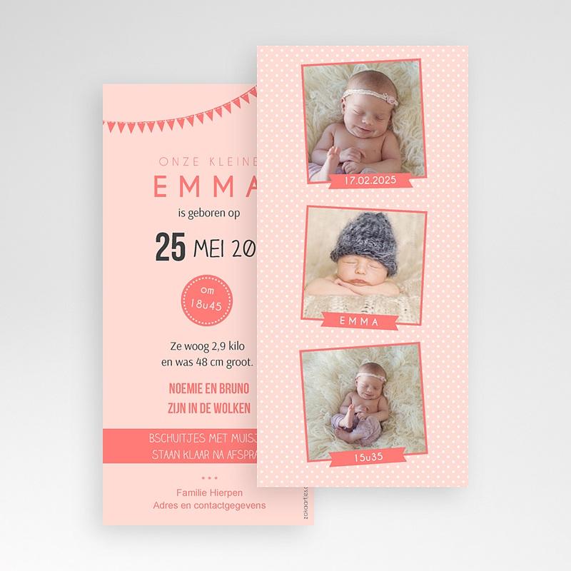 Geboortekaartje meisje - Fotoautomaat girl 41871 thumb