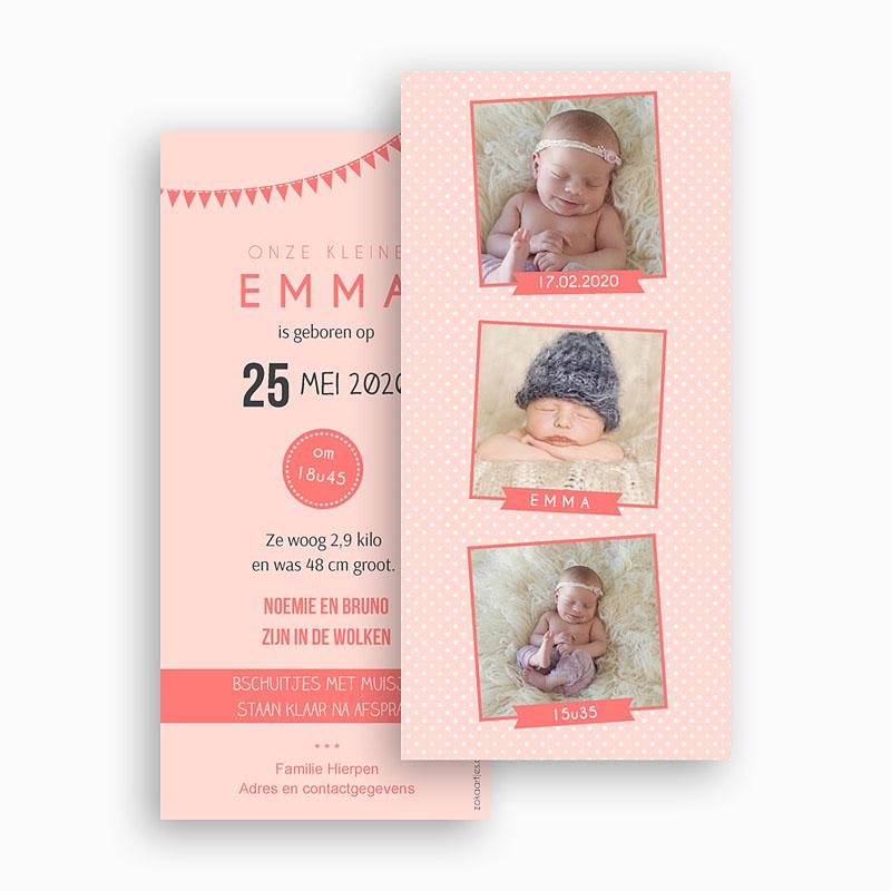 Geboortekaartje meisje - Fotoautomaat girl 41872 thumb