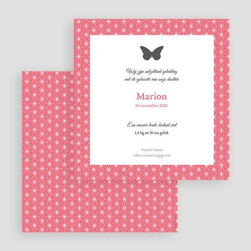 Geboortekaartje meisje Vlindertje gratuit