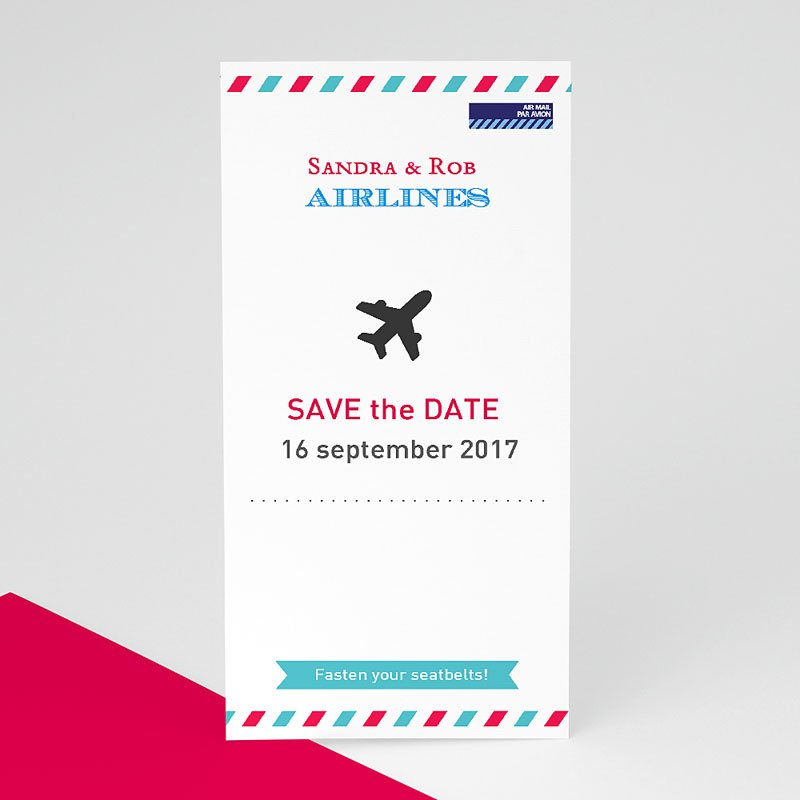 Save the date kaartjes - Op reis JA 41981 thumb
