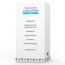 Personaliseerbare menukaarten huwelijk Op reis JA