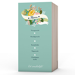 Personaliseerbare menukaarten huwelijk getrouw