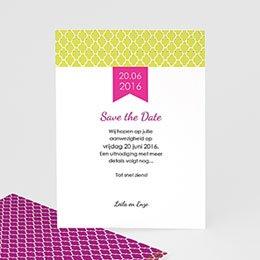 Save the date kaartjes - Art deco kaart - 0