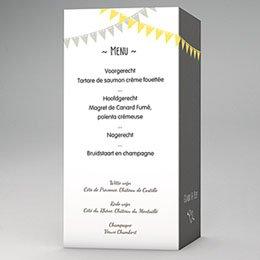 Personaliseerbare menukaarten huwelijk Avondfeest
