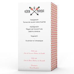 Personaliseerbare menukaarten huwelijk - Cupidootje - 0