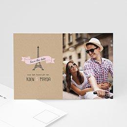 Save the date kaartjes - Love in Paris - 0