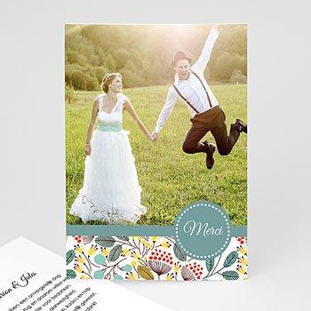 Bedankkaartjes huwelijk - Fleurs des champs - 0