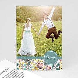 Bedankkaartjes huwelijk Fleurs des champs