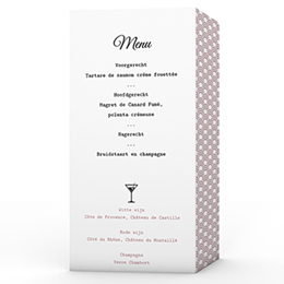 Personaliseerbare menukaarten huwelijk Années Folles