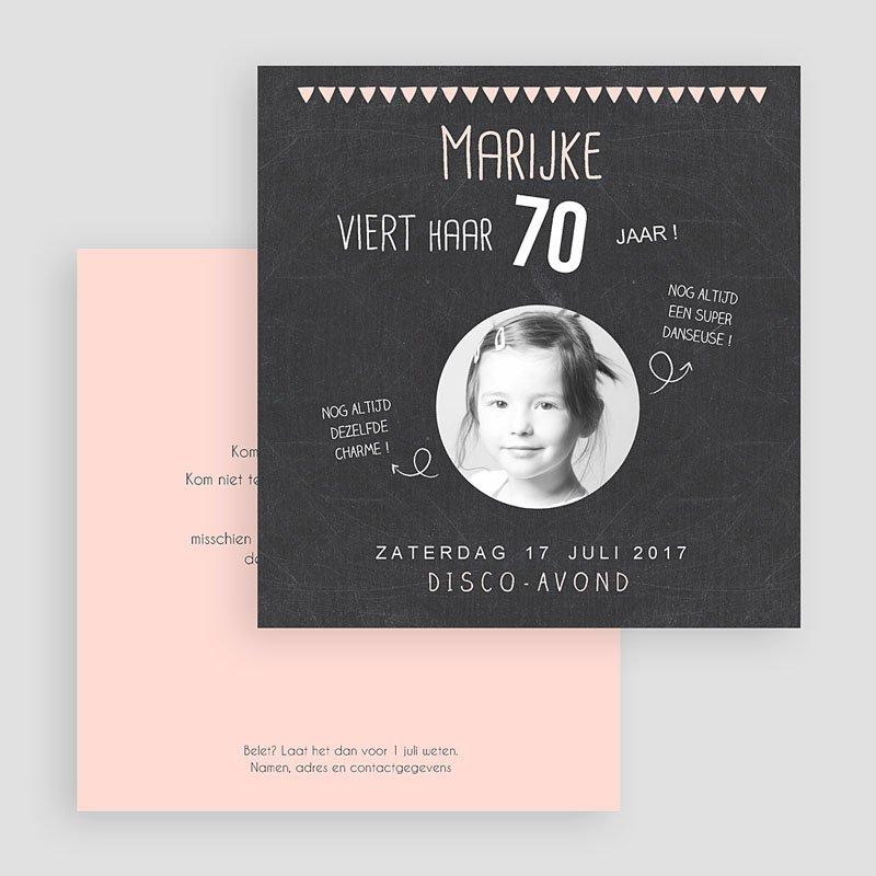 Meerderjarig Uitnodigingen Verjaardag roze leisteen gratuit