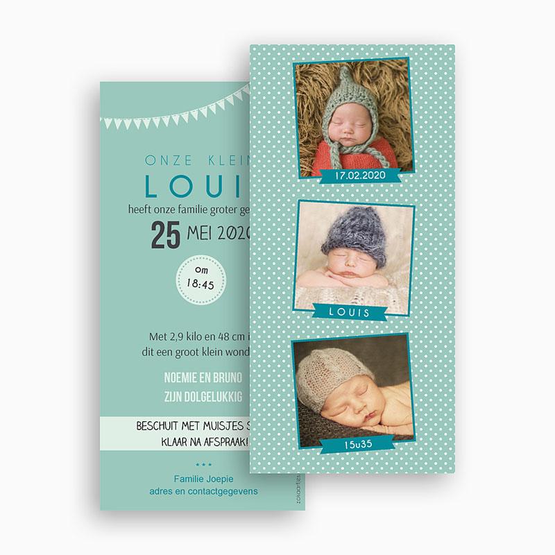 Geboortekaartje jongen - Fotoautomaat boy 42773 thumb
