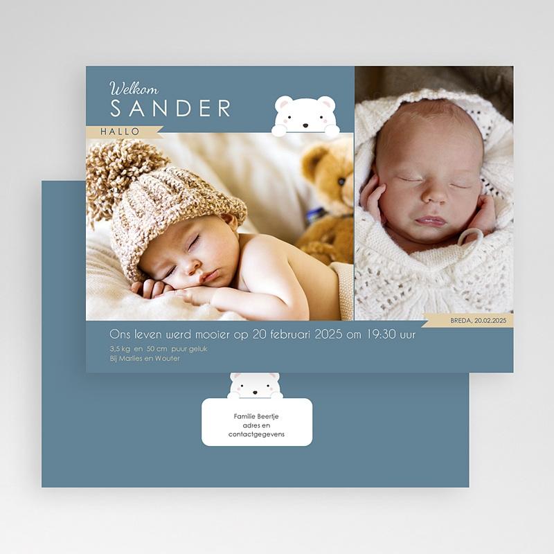 Geboortekaartje jongen - Beertje 42791 thumb