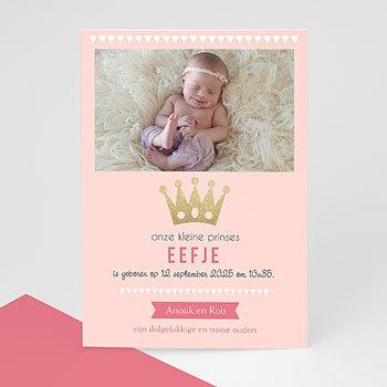 Geboortekaartjes Chic - Ons prinsesje - 0