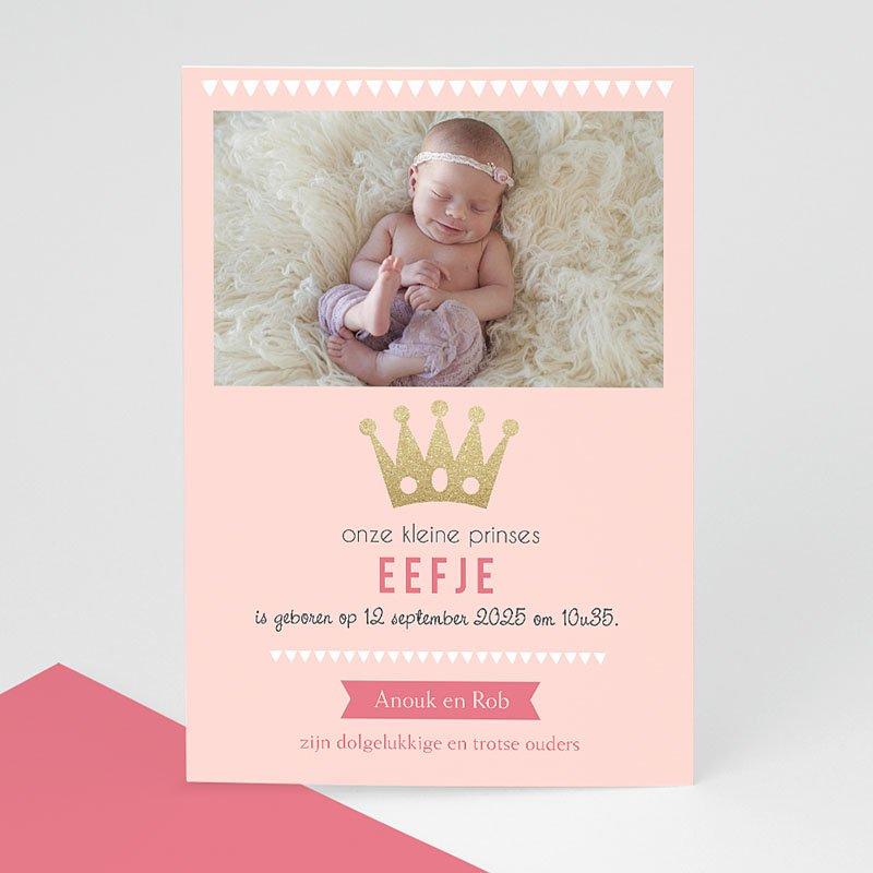 Geboortekaartjes met Foto Ons prinsesje